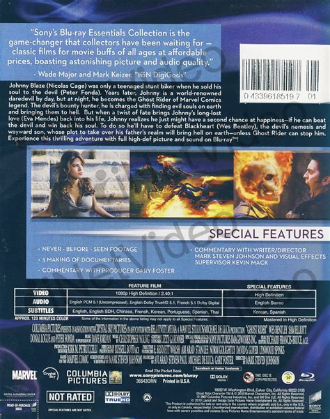 slipcover dvd ghost rider extended cut blu ray slipcover region 1