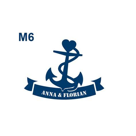 Anker Herz by Maritime Hochzeitslogos Personalisierte Logos F 252 R Die