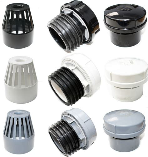 Plumbing Vent Pipe Cap by Soil Pipe External Or Air Admittance Valve Black