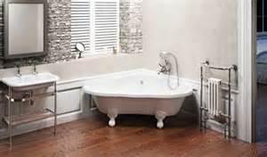 Incroyable Peindre Sa Salle De Bain En Gris #6: salle-de-bian-zen-baignoire-coin-a-pieds-deco-retro.jpg