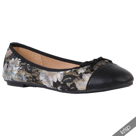 lace flats shoes womens black floral lace ballet flats gold embroidered