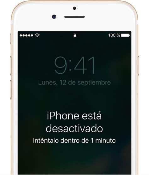 si has olvidado el c 243 digo iphone o ipod touch o si el dispositivo est 225 desactivado