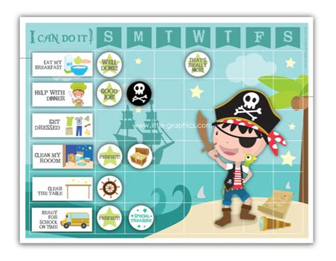 printable pirate reward charts pirate reward chart printable pictures to pin on pinterest