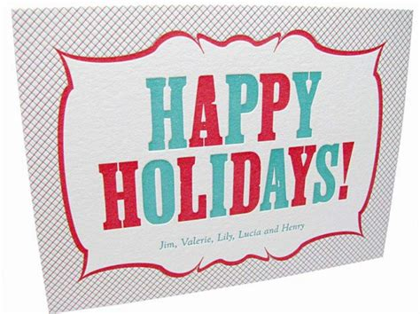 Happy Holidays Dc Nearlyweds by Letterpress Vintage Happy Holidays Card Digby