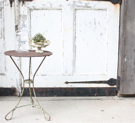 Vintage Wrought Iron Round Green Patio Table Omero Home Vintage Patio Table