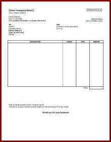 Invoice Template Word by Simple Invoice Template Word Document Hardhost Info