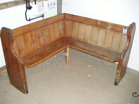 rustic simple wooden corner bench seating for corner bench