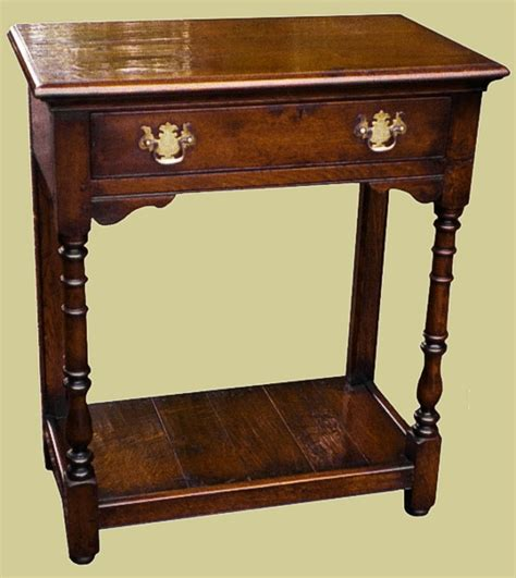 Oak Side Table With Drawer by Oak Side Table With Potboard Drawer