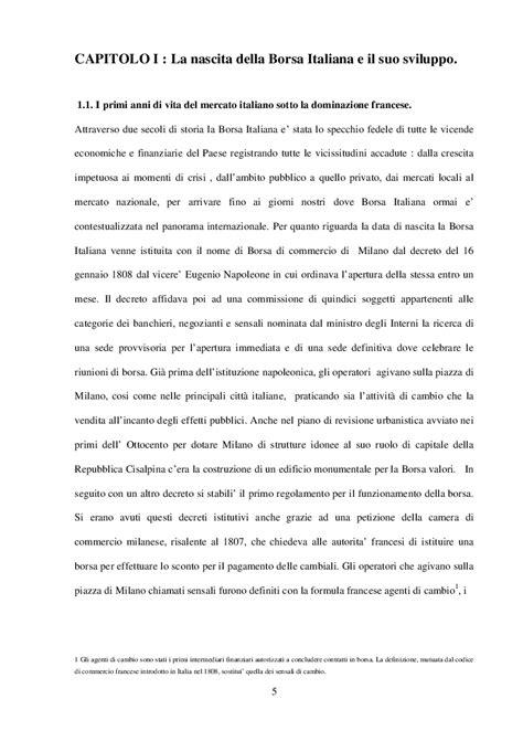 Il Mercato Mobiliare Il Mercato Mobiliare Italiano Dagli Anni 80 Alla Fusione