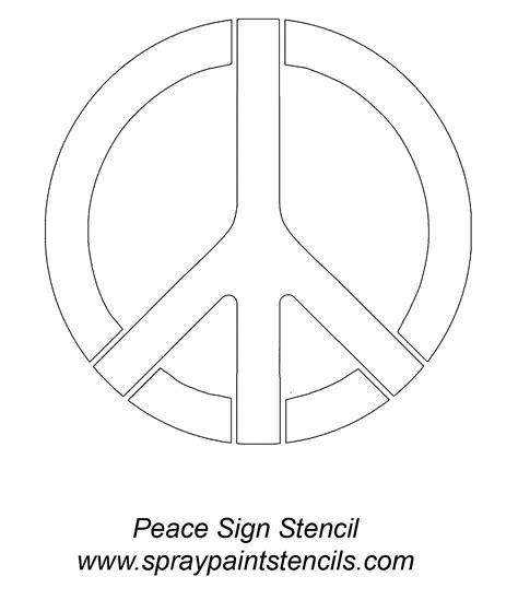 Peace Sign Stencil Stencils Pinterest Stenciling And Peace Sign Template