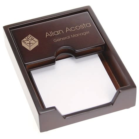 Gift Ideas For Office Desk Office Desk Business Card Holder With Memo Pad