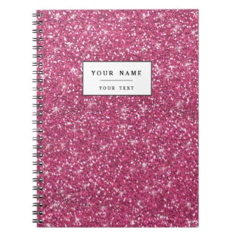 Glitter Notebook glitter notebooks journals zazzle co uk