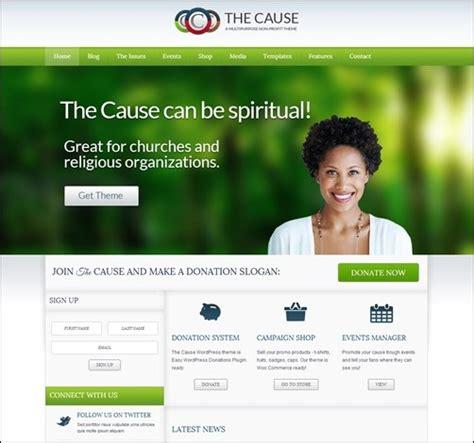 30 Engaging Church Website Templates Creative Cancreative Can Non Profit Websites Templates