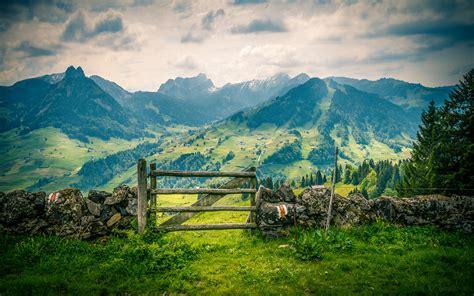 Landscape Pictures For Desktop Background Landscape Mountains And Mountainous Villages