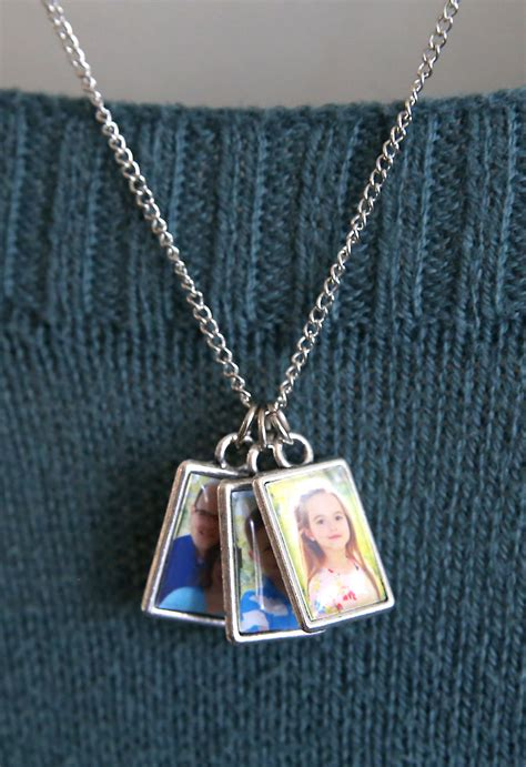 How To Make Handmade Necklace - diy photo album necklace for s day it