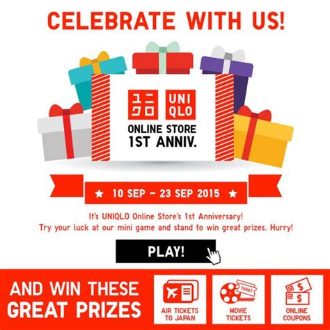 Uniqlo Gift Card Online - uniqlo celebrates its online store 1st anniversary with mini game that let you win