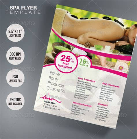 template flyer envato spa flyer template graphicriver