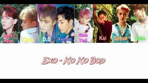 exo kokobop lyrics color coded lyrics exo kokobop han rom eng english