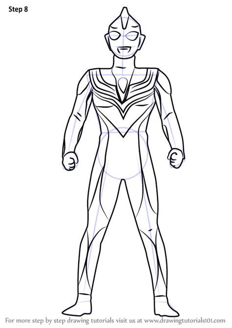 learn how to draw ultraman tiga ultraman step by step
