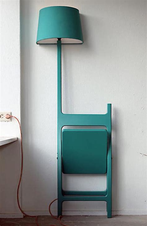 foldable chair  reading lamp  poets