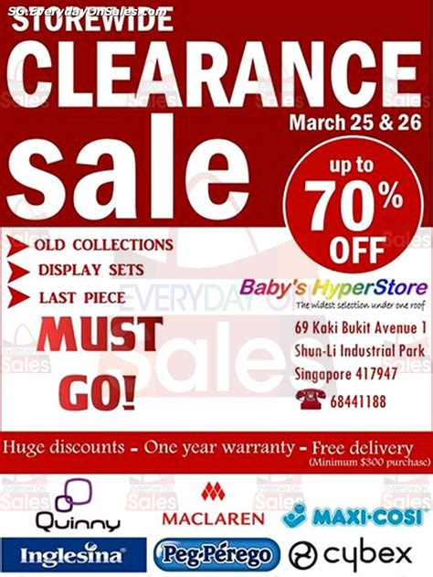 26 27 apr 2014 pureen stock clearance warehouse sale for baby 25 26 mar 2014 baby hyperstore warehouse sale clearance