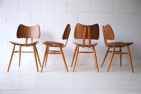 vintage ercol dining chairs set of 4 vintage ercol 401 butterfly dining chairs