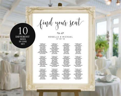 wedding seating sign template wedding seating chart printable seating chart seating