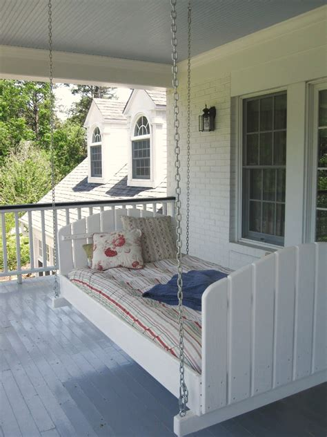 swinging bed this ain t yer grandma s porch swing diy swing beds