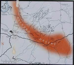painted desert arizona map map picture of painted desert petrified forest national