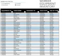 equipment inventory template work equipment inventory sheet