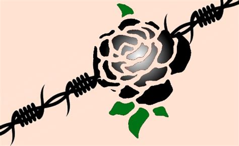 rose and barbed wire tattoo barbed wire images designs