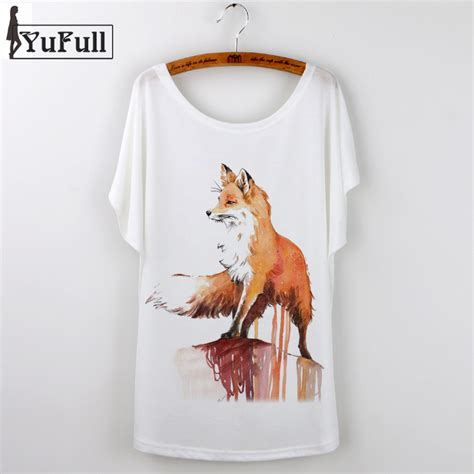 Fancy Fox Speed Graphic T Shirt harajuku 2017 fox animal print t shirt tops camiseta