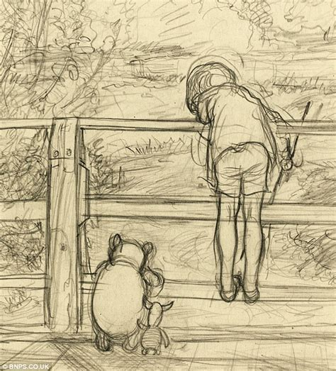 E H Shepard Sketches by E H Shepard S Winnie The Pooh Sketch That Captured
