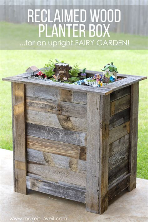 diy wood planter box diy reclaimed wood planter box for an upright