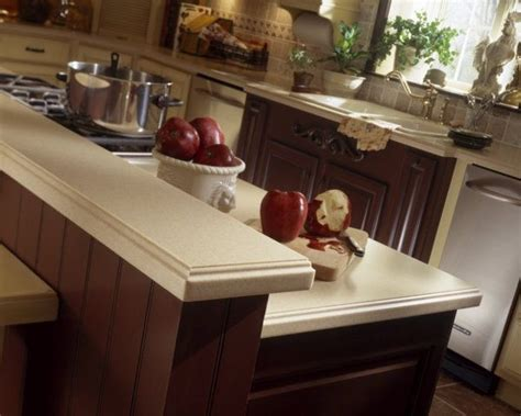 corian in spanish corian 174 mojave counter with edge detail transitional