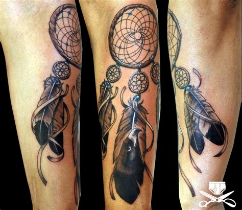tattoo dreamcatcher catcher on forearm hautedraws