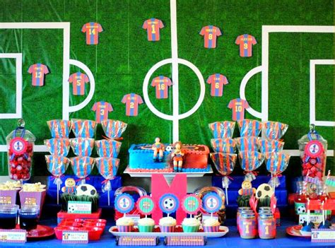 karo s land barcelona soccer themed birthday - Soccer Theme Decorations