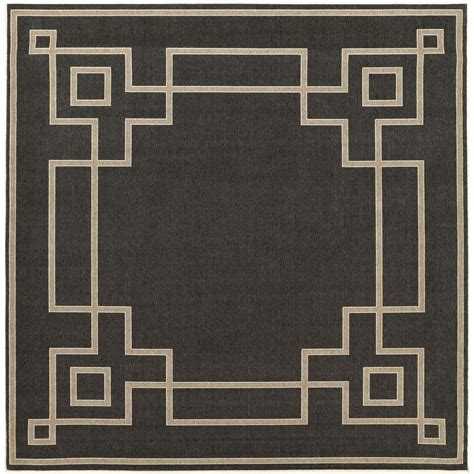 9 x 9 outdoor rug artistic weavers blanche black 8 ft 9 in x 8 ft 9 in square indoor outdoor area rug