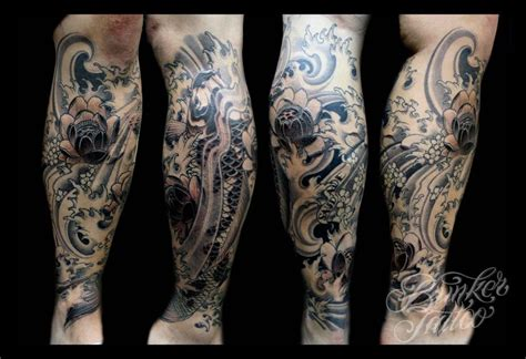 sick sleeve tattoos sick calf design tattoos