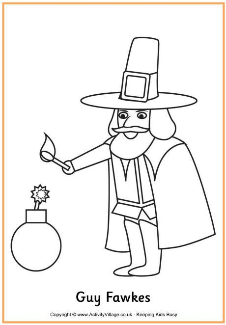 Guy Fawkes Colouring Page 460 Jpg 460 215 662 Res Ideas Fawkes Colouring Pages