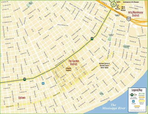 map us new orleans new orleans garden district map