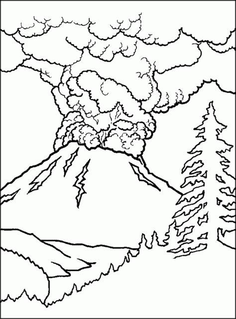 volcano coloring page free printable volcano coloring pages coloring home