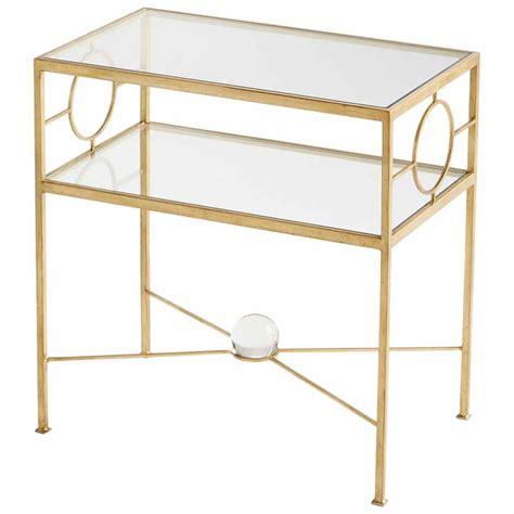 gold accent sofa table gold rectangular sphere accent console table with lower shelf