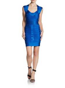 french connection spotlight bandage dress in blue
