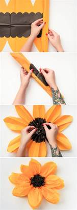 How To Make A Sun Out Of Paper - diy tissue paper flower tissue paper flower and met