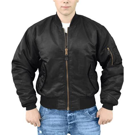 Jaket Bomber Rocafela 2 In 1 surplus classic style army ma1 flight flyer pilot bomber mens jacket black s 5xl ebay