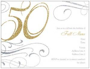 50th birthday invitation templates free printable a
