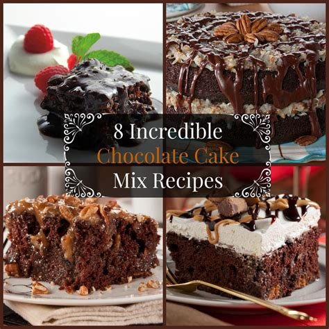 Chocolate Cake Mix 8 chocolate cake mix recipes mrfood