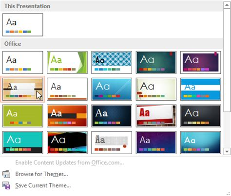 powerpoint design variants powerpoint 2013 applying themes