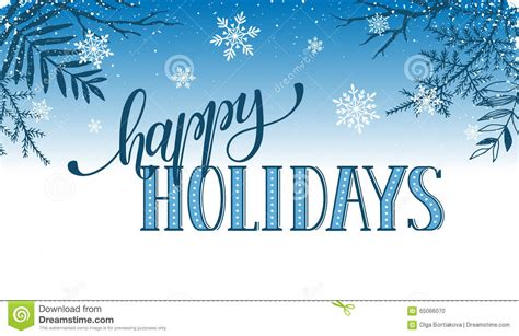 happy holidays from company card template happy holidays card stock vector image of modern season
